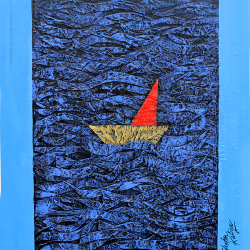 in the ocean 2, 13 x 17 inch, chetan katigar,13x17inch,canvas,paintings,abstract paintings,wildlife paintings,flower paintings,cityscape paintings,modern art paintings,conceptual paintings,expressionism paintings,impressionist paintings,portraiture,realism paintings,contemporary paintings,paintings for dining room,paintings for living room,paintings for bedroom,paintings for office,paintings for hotel,paintings for hospital,acrylic color,GAL026627976