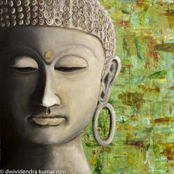 budhdha painting, 20 x 16 inch, dwividendra nim,20x16inch,canvas board,paintings,buddha paintings,acrylic color,GAL01687927978
