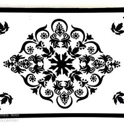 black and white symmetrical design, 15 x 11 inch, geeta kwatra,15x11inch,handmade paper,paintings,abstract paintings,art deco paintings,paintings for living room,paintings for hotel,acrylic color,GAL0899127990