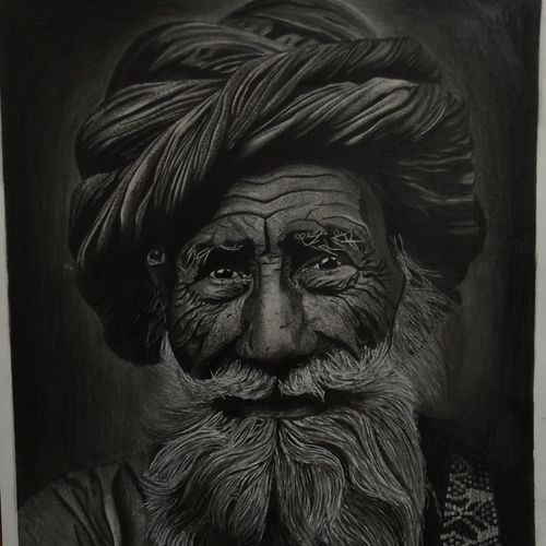 old man, 8 x 12 inch, priya  shaw,8x12inch,thick paper,realism drawings,graphite pencil,GAL01650127997