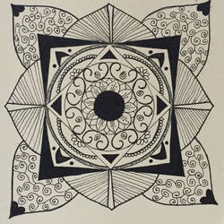 mandala, 8 x 12 inch, gargi salaskar,fine art drawings,paintings for office,thick paper,pen color,8x12inch,GAL011002800