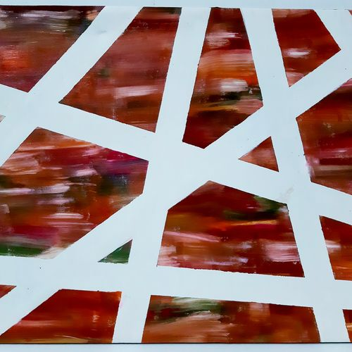 tangled tracks, 28 x 22 inch, safoora  kousar,28x22inch,canvas,paintings,abstract paintings,paintings for living room,acrylic color,GAL01684328005