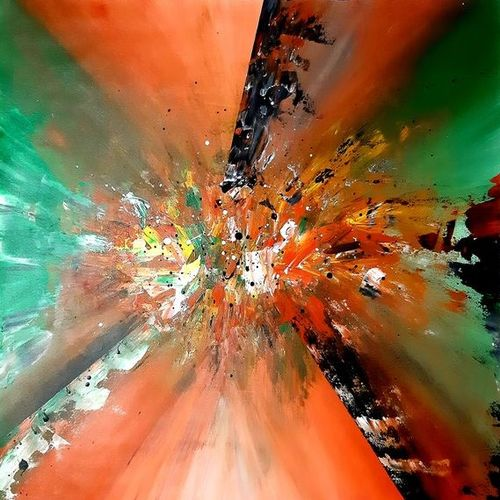 patriotism, 28 x 28 inch, safoora  kousar,28x28inch,canvas,paintings,abstract paintings,paintings for living room,acrylic color,GAL01684328007