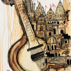 sangeet sarita , 25 x 36 inch, mrinal  dutt,25x36inch,canvas,paintings,modern art paintings,conceptual paintings,contemporary paintings,paintings for dining room,paintings for living room,paintings for bedroom,paintings for office,paintings for kids room,paintings for hotel,paintings for kitchen,paintings for school,paintings for hospital,acrylic color,GAL01311728011
