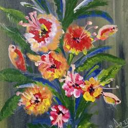 bouquet of flower, 8 x 10 inch, vinod shrivastava,8x10inch,canvas,paintings,flower paintings,paintings for dining room,paintings for living room,paintings for bedroom,paintings for office,paintings for bathroom,paintings for kids room,paintings for hotel,paintings for kitchen,paintings for school,paintings for hospital,acrylic color,GAL01618828016