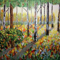 beauty of forest, 36 x 25 inch, hriday  das,nature paintings,paintings for living room,landscape paintings,paintings for office,canvas,acrylic color,36x25inch,GAL09832803Nature,environment,Beauty,scenery,greenery