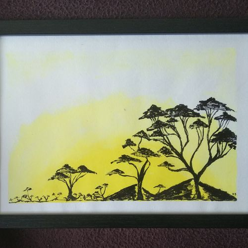 trees under sunset, 12 x 8 inch, raja d,12x8inch,thick paper,nature paintings | scenery paintings,paintings for living room,paintings for bedroom,paintings for office,paintings for kids room,paintings for hotel,paintings for school,paintings for living room,paintings for bedroom,paintings for office,paintings for kids room,paintings for hotel,paintings for school,acrylic color,paper,GAL01694028040