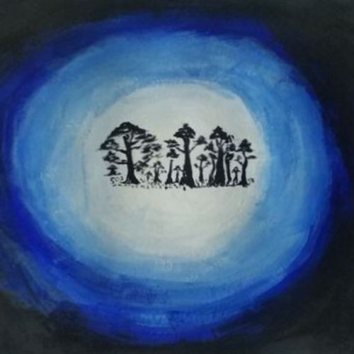 blue night, 12 x 8 inch, raja d,12x8inch,thick paper,paintings,nature paintings | scenery paintings,paintings for living room,paintings for bedroom,paintings for office,paintings for kids room,paintings for hotel,paintings for school,acrylic color,paper,GAL01694028058
