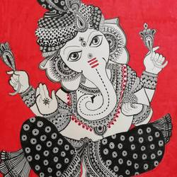 ganpati, 12 x 17 inch, sneha  tomar,12x17inch,drawing paper,religious paintings,art deco paintings,ganesha paintings | lord ganesh paintings,paintings for dining room,paintings for living room,paintings for office,paintings for hotel,paintings for hospital,paintings for dining room,paintings for living room,paintings for office,paintings for hotel,paintings for hospital,ink color,pen color,GAL01285828064