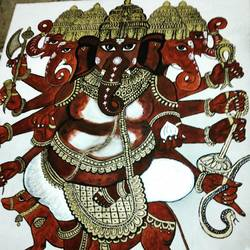 gajanan , 18 x 22 inch, madhusmita choudhury,18x22inch,canvas,paintings,ganesha paintings | lord ganesh paintings,paintings for living room,paintings for office,paintings for school,paintings for hospital,acrylic color,GAL0670928075