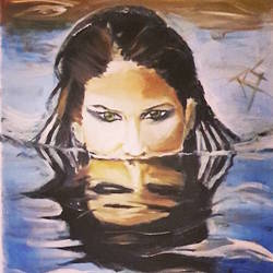 reflection of dual persona, 16 x 20 inch, rakshit sharma,16x20inch,canvas,paintings,abstract paintings,portrait paintings,oil color,GAL01392328078