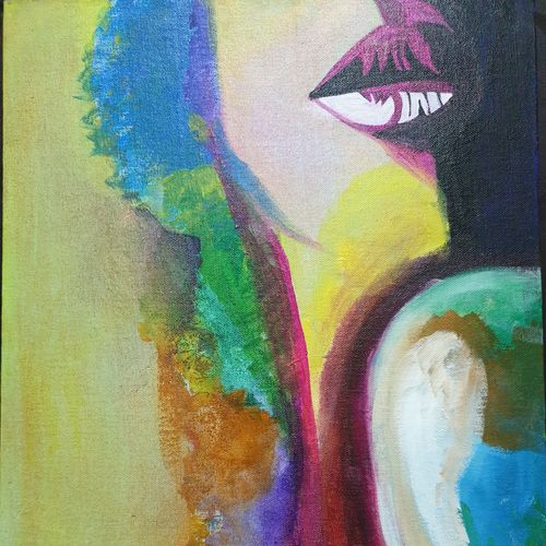 seductive woman, 14 x 18 inch, dini george,14x18inch,canvas,paintings,abstract paintings,still life paintings,abstract expressionism paintings,expressionism paintings,impressionist paintings,portraiture,paintings for dining room,paintings for living room,paintings for bedroom,paintings for office,paintings for bathroom,paintings for hotel,acrylic color,GAL01664428082