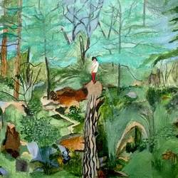 into the wild, 16 x 12 inch, sumdima rai,nature paintings,paintings for living room,canvas,acrylic color,16x12inch,GAL010972810Nature,environment,Beauty,scenery,greenery