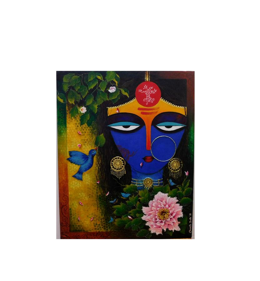 nature queen, 30 x 24 inch, amrita dutta,30x24inch,canvas,paintings,portrait paintings,paintings for dining room,paintings for living room,paintings for bedroom,paintings for office,paintings for hotel,paintings for dining room,paintings for living room,paintings for bedroom,paintings for office,paintings for hotel,acrylic color,mixed media,GAL01702528106