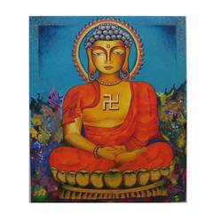 buddha peace of mind, 30 x 36 inch, amrita dutta,30x36inch,canvas,paintings,buddha paintings,paintings for dining room,paintings for living room,paintings for bedroom,paintings for office,paintings for hotel,paintings for hospital,acrylic color,GAL01702528118