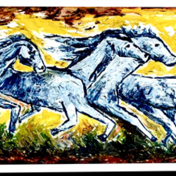 running home, 45 x 14 inch, anand manchiraju,45x14inch,canvas,paintings,horse paintings,paintings for dining room,paintings for living room,paintings for bedroom,paintings for office,paintings for kids room,paintings for hotel,oil color,GAL01254028161
