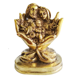 jesus crist holy family brass statue, 5 x 6 inch, vgo cart,5x6inch,canson paper,handicrafts,religious statues,brass,GAL01132728178