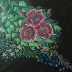 rose , 24 x 23 inch, kailash chand,24x23inch,canvas,paintings,flower paintings,oil color,GAL01639228191