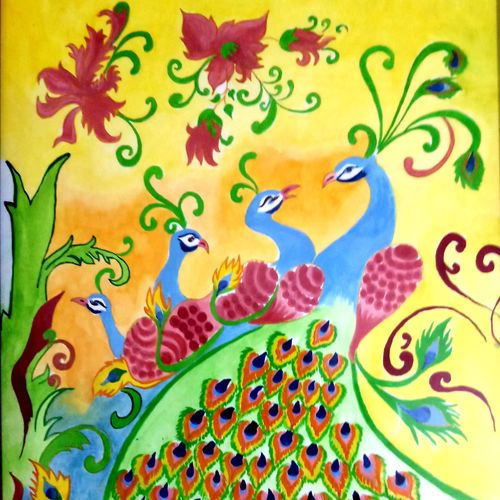 peacock designs, 15 x 22 inch, nikita t,15x22inch,thick paper,paintings,wildlife paintings,figurative paintings,flower paintings,nature paintings | scenery paintings,art deco paintings,expressionism paintings,animal paintings,paintings for dining room,paintings for living room,paintings for bedroom,paintings for office,paintings for bathroom,paintings for kids room,paintings for hotel,paintings for kitchen,paintings for school,paintings for hospital,oil color,pastel color,pencil color,paper,GAL01709128242