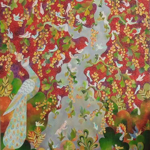 kalpataru , 30 x 40 inch, chaitali chatterjee,30x40inch,canvas,paintings,landscape paintings,nature paintings | scenery paintings,expressionism paintings,contemporary paintings,paintings for dining room,paintings for living room,paintings for bedroom,paintings for office,paintings for kids room,paintings for hotel,paintings for school,paintings for hospital,oil color,GAL01566228248