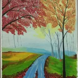 art 7001, 12 x 16 inch, g renuka naidu,12x16inch,canvas,paintings,landscape paintings,paintings for living room,paintings for living room,oil color,GAL01701028263