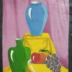 art 7002, 12 x 18 inch, g renuka naidu,12x18inch,hardboard,paintings,still life paintings,paintings for dining room,paintings for living room,paintings for office,paintings for hotel,paintings for kitchen,paintings for school,oil color,GAL01701028264