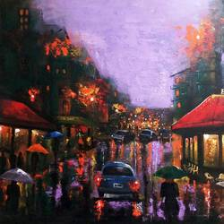 rainy day 7, 30 x 24 inch, arjun das,30x24inch,canvas,paintings,expressionism paintings,impressionist paintings,street art,contemporary paintings,paintings for dining room,paintings for living room,paintings for bedroom,paintings for office,paintings for bathroom,paintings for school,paintings for hospital,acrylic color,GAL011228288