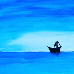 the sail, 8 x 10 inch, shrishti aggarwal,8x10inch,canvas board,paintings,landscape paintings,nature paintings | scenery paintings,paintings for dining room,paintings for living room,paintings for bedroom,paintings for office,paintings for bathroom,paintings for kids room,paintings for hotel,paintings for kitchen,paintings for school,paintings for hospital,acrylic color,GAL01085528299