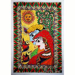 radha krishna traditional painting, 12 x 17 inch, monalisha nayak,12x17inch,ivory sheet,paintings,abstract paintings,folk art paintings,religious paintings,radha krishna paintings,love paintings,madhubani paintings | madhubani art,paintings for dining room,paintings for living room,paintings for bedroom,paintings for office,paintings for hotel,acrylic color,paper,GAL01712228312