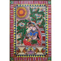 bal krishna painting, 12 x 17 inch, monalisha nayak,12x17inch,ivory sheet,paintings,folk art paintings,religious paintings,madhubani paintings | madhubani art,paintings for dining room,paintings for living room,paintings for bedroom,paintings for office,paintings for hotel,acrylic color,paper,GAL01712228314