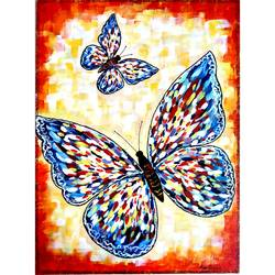 butterfly canvas painting, 13 x 18 inch, monalisha nayak,13x18inch,canvas,paintings,abstract paintings,modern art paintings,animal paintings,contemporary paintings,paintings for dining room,paintings for living room,paintings for office,paintings for bathroom,paintings for kids room,paintings for hotel,acrylic color,GAL01712228318
