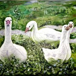duck painting, 25 x 17 inch, anandi m,25x17inch,canvas,paintings,abstract paintings,wildlife paintings,nature paintings | scenery paintings,animal paintings,paintings for dining room,paintings for living room,paintings for bedroom,paintings for office,paintings for kids room,paintings for hotel,paintings for school,paintings for hospital,oil color,GAL0307728319