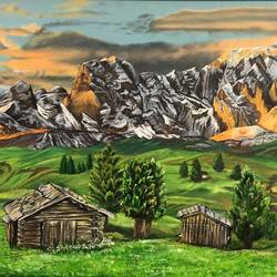 nature view, 36 x 24 inch, sudha sarawagi ,36x24inch,canvas,landscape paintings,nature paintings | scenery paintings,oil color,GAL0342928334
