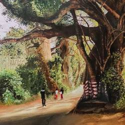 the tangled tree, 36 x 24 inch, sinduja  kanagaraj ,36x24inch,canvas,paintings,landscape paintings,nature paintings | scenery paintings,realistic paintings,paintings for dining room,paintings for living room,paintings for bedroom,paintings for office,paintings for bathroom,paintings for kids room,paintings for hotel,paintings for kitchen,paintings for school,paintings for hospital,oil color,GAL01713528337