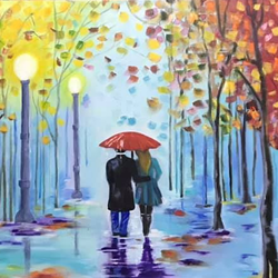 love couple, 36 x 18 inch, sudha sarawagi ,36x18inch,canvas,paintings,love paintings,oil color,GAL0342928342