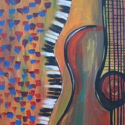 musical beat, 14 x 18 inch, kinjal gorakh,14x18inch,canvas board,paintings,abstract paintings,art deco paintings,street art,paintings for dining room,paintings for living room,paintings for bedroom,paintings for office,paintings for kids room,paintings for hotel,paintings for school,acrylic color,GAL01715928360
