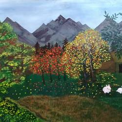 nature, 20 x 30 inch, neena  bhatti,20x30inch,canvas,paintings,abstract paintings,paintings for living room,acrylic color,GAL01578128392