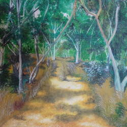beyond this point, 16 x 20 inch, rakhee nayak,16x20inch,canvas,paintings,landscape paintings,nature paintings | scenery paintings,acrylic color,oil color,GAL01724228413