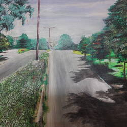 way to sls, 16 x 20 inch, rakhee nayak,16x20inch,canvas,paintings,street art,paintings for school,acrylic color,oil color,GAL01724228415