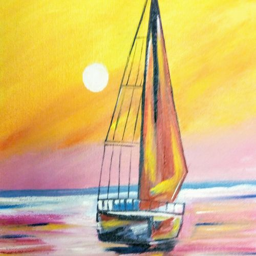 the stunning boat, 8 x 10 inch, gargi tiwari,8x10inch,canvas board,paintings,modern art paintings,paintings for dining room,paintings for living room,paintings for bedroom,paintings for office,paintings for bathroom,paintings for kids room,paintings for hotel,paintings for school,paintings for hospital,oil color,GAL01708428422