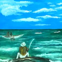 by the beach, 17 x 12 inch, tripta nair,17x12inch,brustro watercolor paper,paintings,landscape paintings,nature paintings | scenery paintings,poster color,GAL01718928434