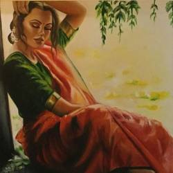 untitled , 26 x 30 inch, geetu thakur,26x30inch,canvas,paintings,abstract expressionism paintings,expressionism paintings,illustration paintings,realistic paintings,paintings for dining room,paintings for living room,paintings for bedroom,paintings for office,paintings for hotel,paintings for hospital,oil color,GAL01726128468