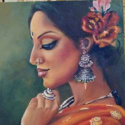 untitled , 20 x 24 inch, geetu thakur,20x24inch,canvas,paintings,figurative paintings,modern art paintings,realism paintings,paintings for dining room,paintings for living room,paintings for bedroom,paintings for office,paintings for hotel,paintings for school,oil color,GAL01726128473