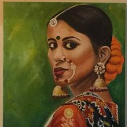 untitled , 20 x 22 inch, geetu thakur,20x22inch,canvas,paintings,illustration paintings,portraiture,realism paintings,contemporary paintings,paintings for dining room,paintings for living room,paintings for bedroom,paintings for office,paintings for hotel,paintings for school,paintings for hospital,oil color,GAL01726128475