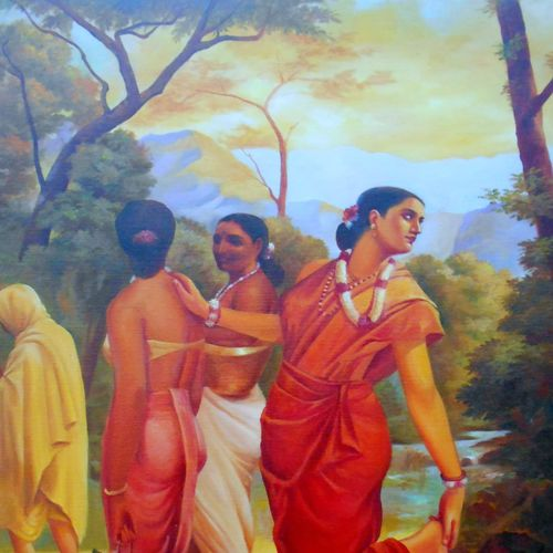 shagondhala, 22 x 34 inch, priya  sabapathy,realistic paintings,paintings for living room,canvas,oil paint,22x34inch,GAL011142848