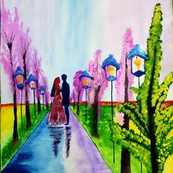 spring love painting, 12 x 17 inch, nikita nandakumar,12x17inch,thick paper,paintings,flower paintings,landscape paintings,modern art paintings,still life paintings,nature paintings | scenery paintings,art deco paintings,street art,surrealism paintings,love paintings,paintings for dining room,paintings for living room,paintings for bedroom,paintings for office,paintings for bathroom,paintings for kids room,paintings for hotel,paintings for kitchen,paintings for school,paintings for hospital,acrylic color,poster color,paper,GAL01709128494