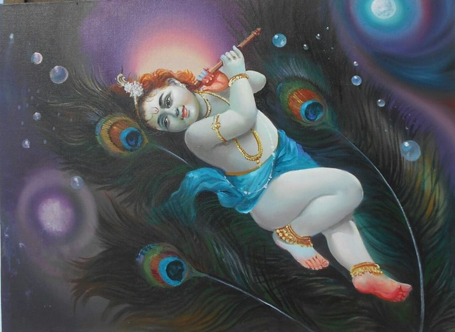 Buy Lord Krishna Painting At Lowest Price By Priya Sabapathy