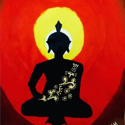 buddha, 10 x 15 inch, akash deep kujur,10x15inch,paper,paintings,buddha paintings,paintings for living room,acrylic color,GAL01730928522