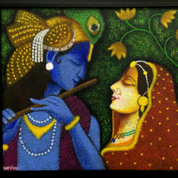 radhe krishna, 28 x 23 inch, varun  n rao,28x23inch,canvas,paintings,religious paintings,portrait paintings,radha krishna paintings,paintings for dining room,paintings for living room,paintings for bedroom,paintings for office,paintings for hotel,acrylic color,GAL0880928539