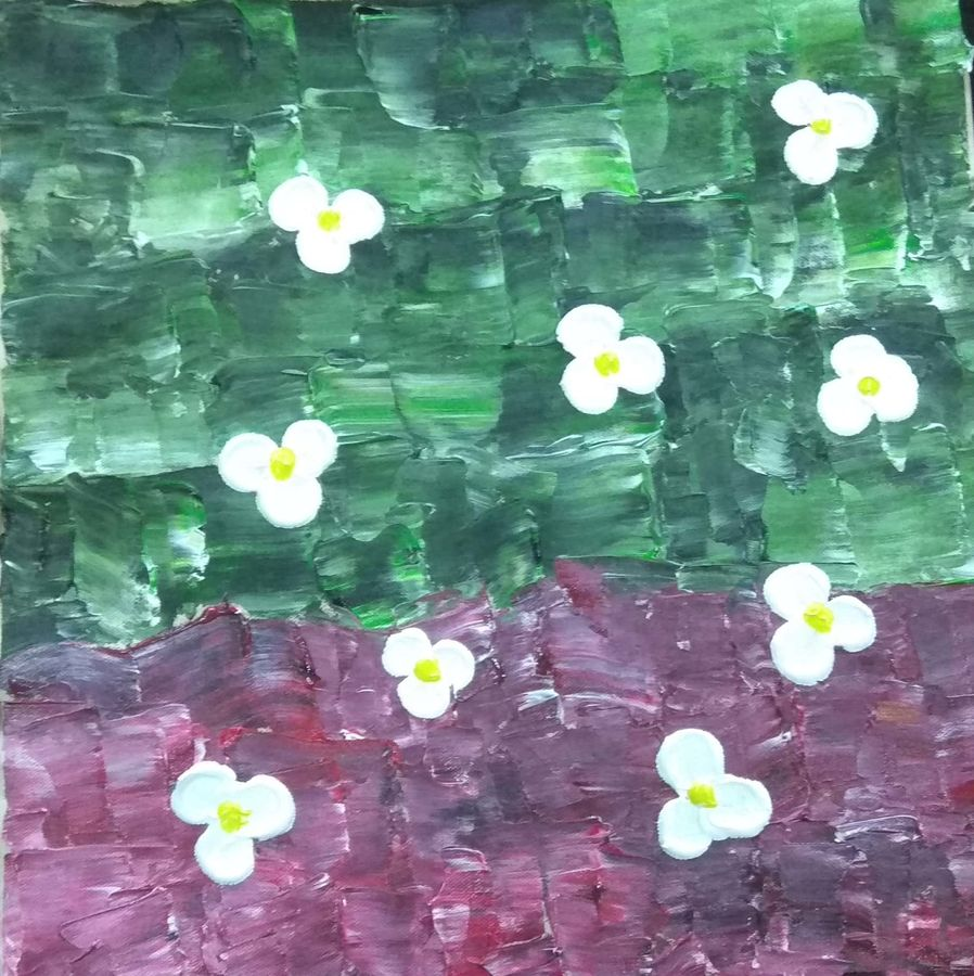 abstract  painting handmade, 15 x 15 inch, nia fine arts,15x15inch,canvas,paintings,abstract paintings,flower paintings,paintings for dining room,paintings for living room,paintings for bedroom,paintings for office,acrylic color,GAL01101228541